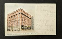 1906 Butler Hotel Seattle Washington Picture Postcard Cover