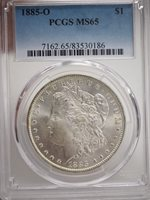 1885-O Morgan Dollar PCGS MS 65 Silver Dollar #0186