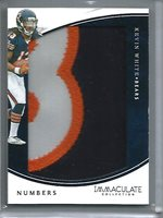 Kevin White 2016 Panini Immaculate Collection Numbers Game Jersey Patch #01/25