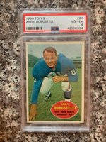 1960 TOPPS #81 ANDY ROBUSTELLI *PSA GRADED VG/EX 4 * *SHARP* KGC-18007