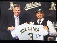 Nakajima, Hiroyuki (Oakland Athletics)[HNakajima12x18]