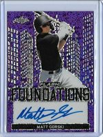 2019 Leaf Flash MATT GORSKI Foundations Purple Prismatic Auto RC 8/25 Pirates
