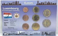 2004-2012 Europe, Luxembourg Currency Mint Set