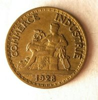 1928 FRANCE 50 CENTIMES - Excellent Coin - FREE SHIP - BARGAIN BIN #45