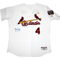 Yadier Molina Hand-Signed Jersey With Certificate Of Authenticity
