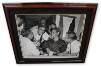 Vin Scully Sandy Koufax Dual Signed Auto 16x20 Photo MLB Stunning Dodgers Framed