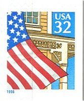 2920D 32c Flag over Porch (1996) Used Single[2920dused]