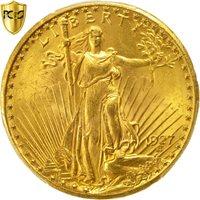 Coin, United States, Saint-Gaudens, $20, 1927, PCGS MS65