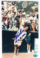 Autograph Warehouse 70553 Ilie Nastase Autographed 8 x 10 Photo Tennis Player Image No. 2 Inscribed Hof 1991