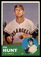 1963 Topps #207 Ken Hunt EX Excellent