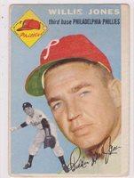 1954 Topps #41 Willie Jones - Philadelphia Phillies, Very Good Condition*