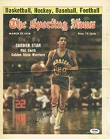 Warriors Phil Smith Signed 11.5X14.5 1976 Sporting News Cover PSA/DNA #T69407