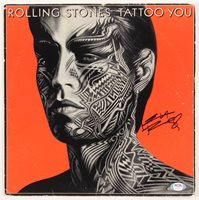 """Keith Richards Signed The Rolling Stones """"Tattoo You"""" Vinyl Record Album (PSA Hologram)"""