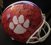 CLEMSON TIGERS 2018-19 TEAM SIGNED FULL SIZE HELMET w/ COA HUNTER RENFROW