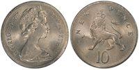 BRITAIN Elizabeth II. 1977 CuNi 10 New Pence PCGS Genuine UNC Details Mint Error