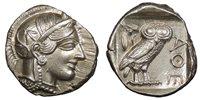 Attica Athens AR Tetradrachm After 449 B.C. NGC Mint State