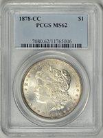 1878-CC PCGS MS62 * CARSON CITY MORGAN DOLLAR * #11765006