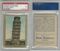 T99 ATC, Sights & Scenes, 1911, Leaning Tower of Pisa, PSA 5 EX