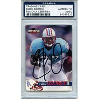 4bcbbd727 Eddie George Autographed Signed Football Trading Card Houston Oilers PSA/DNA  #84095222CUSTOM FRAME YOUR