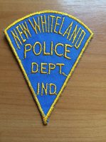OLD VINTAGE PATCH POLICE NEW WHITELAND INDIANA STATE