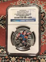 2015 Canada Colorized Silver $20 Superman NGC PF70 Early Releases