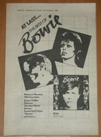 DAVID BOWIE The Best of Bowie Original 1980 LP UK ADVERT A4 Promo AD