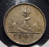 Guatemala 1901 1/4 Real 191077 combine shipping