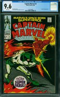 CAPTAIN MARVEL #2, CGC 9.6 NM+ - The Auction Has Ended