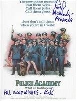 PAUL MASLANSKY Signed 8.5 x 11 Photo POLICE ACADEMY Movie Producer Writer