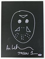 "Ari Lehman ""Jason"" Signed Friday The 13th 11x14 Canvas Sketch PSA/DNA #AB33878"