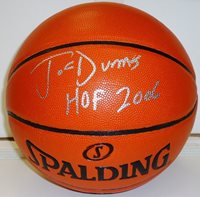 "Joe Dumars Autographed Basketball with ""HOF 2006"" Inscription"