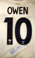 Michael Owen Hand-Signed Jersey With Certificate Of Authenticity