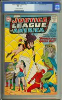 JUSTICE LEAGUE OF AMERICA #23 CGC 9.2 OW/WH PAGES // 1ST APP QUEEN BEE 1963