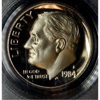 10c Cent Dime 1984 S PR69 DCAM PCGS brllnt lt. tn