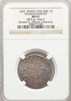 1652 Shilli Oak Tree Shilling, ANDO, MS61 NGC. Pop (1/3), CAC