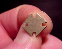 #5657 - 19 th Corps Brass Lapel Pin