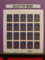 SCOTT # 3532-EID GREETINGS-SHEET OF (20) 34 CENT STAMPS