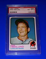 1973 Topps Baseball Mike Hedlund Card #591 PSA 8 NM-MT Cleveland Indians MLB