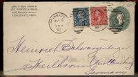 USA 1897 Upfranked Postal Stationery Germany Transatlantic 87678