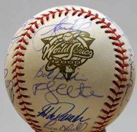 2000 New York Yankees Hand-Signed Baseball With Certificate Of Authenticity