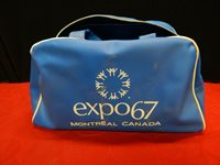 """EXPO 67 Montreal Canada bag blue vintage Maple Leaf 12"""" EXPO67"""