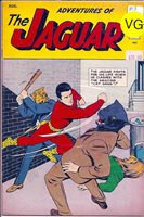 ADVENTURES OF THE JAGUAR 13 Catgirl, Black Hood app.; AUGUST 1963.