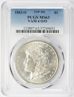 1883-O Morgan Dollar PCGS MS-63 VAM 4 O/O Top 100