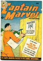 Captain Marvel Adventures #36 1944- Fawcett Golden Age- poor   Comic Books - Golden Age, Captain Marvel, Superhero