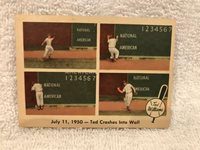 BEAUTIFUL 1959 Fleer Ted Williams #40 Ted Crashes Into Wall, Boston Red Sox NICE