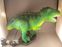 Vtg T-Rex tyrannosaurus dinosaur Godzilla? Table LAMP Child's Kid Bedroom rare