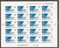 Scott# 3995...39 Cent...2006 Olympic Winter Games...Pane of 20 Stamps