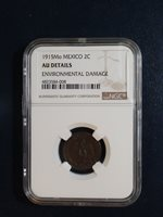 1915 Mo Mexico Two Centavos NGC AU Details 2C Coin PRICED TO SELL NOW!