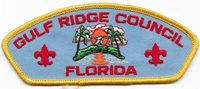 Gulf Ridge Council Strip RT Plastic Back CSP SAP Boy Scout of America BSA