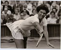 """1960's-70's Press Photograph Tennis star Rosie Casals of USA, 10"""" by 8"""" size"""